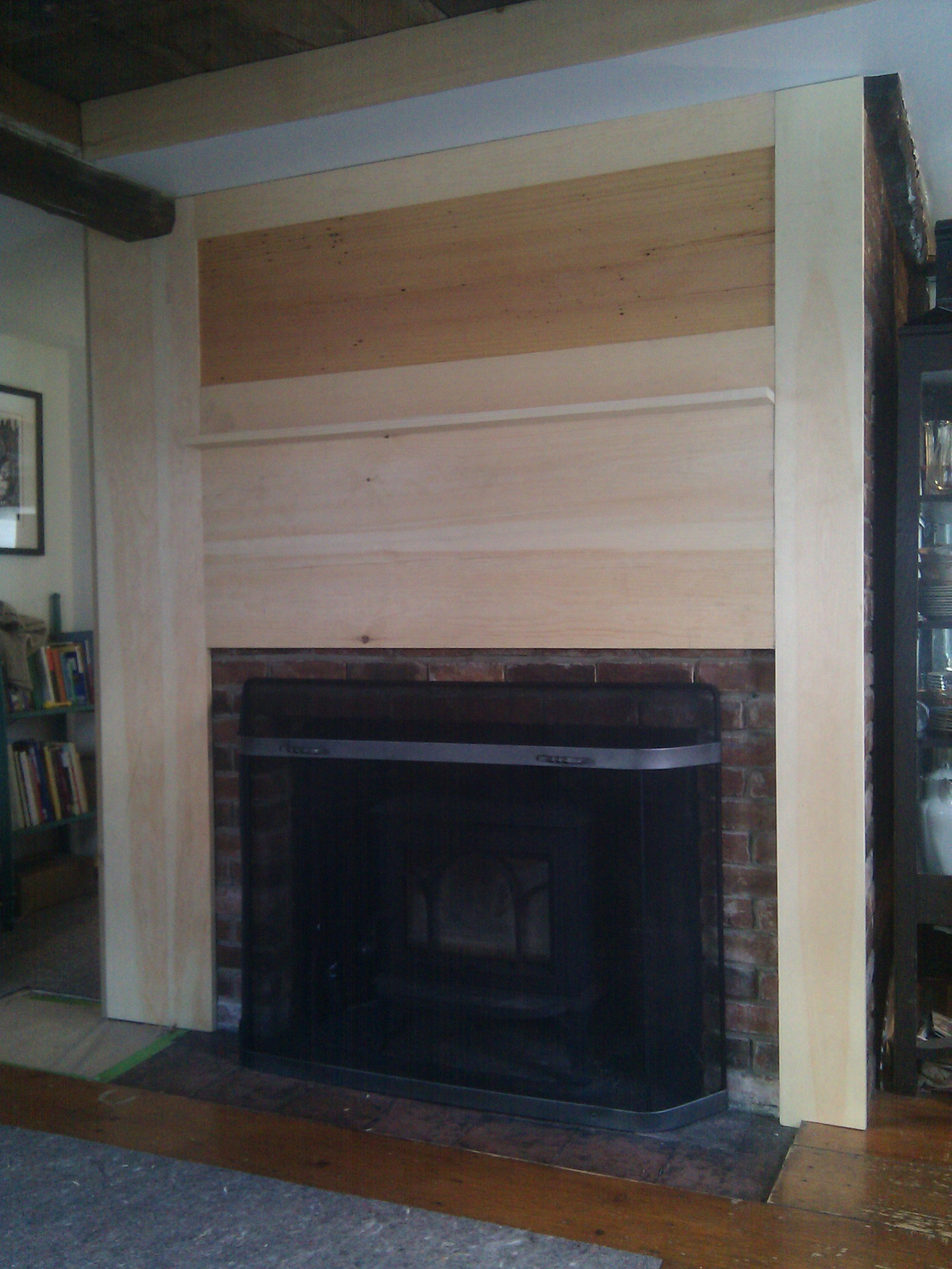 brick fireplace wall makeover facade l our